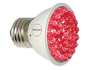 RubyLux all red light therapy for rosacea bulb