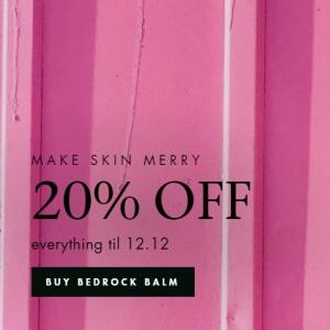 Bedrock skin care Black Friday sale